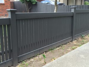 Rebated Capped Picket Fence